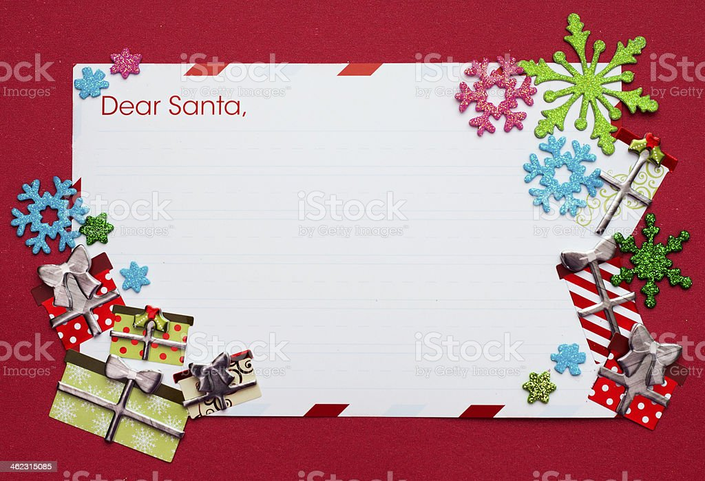Santa claus letter royalty-free stock photo