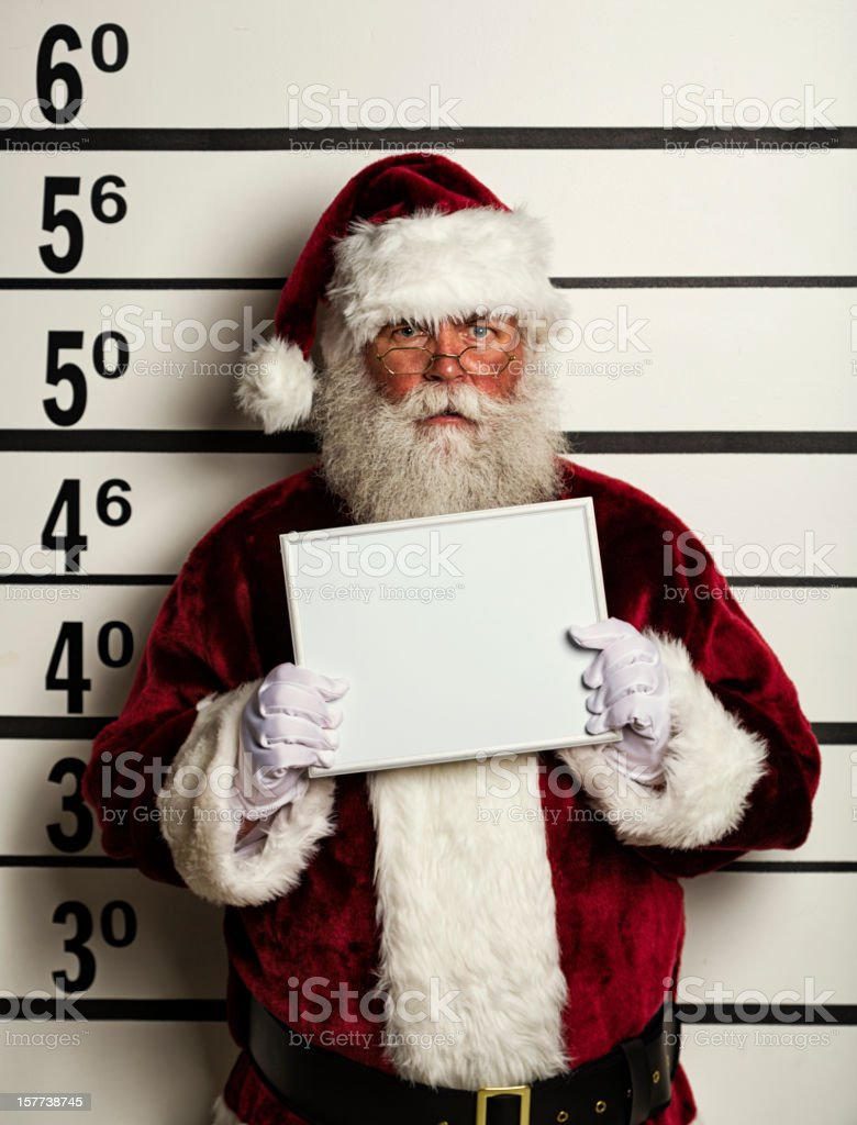 Santa Claus Mugshot stock photo