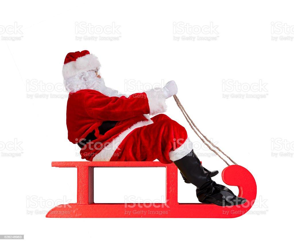 Santa Claus on sledge stock photo