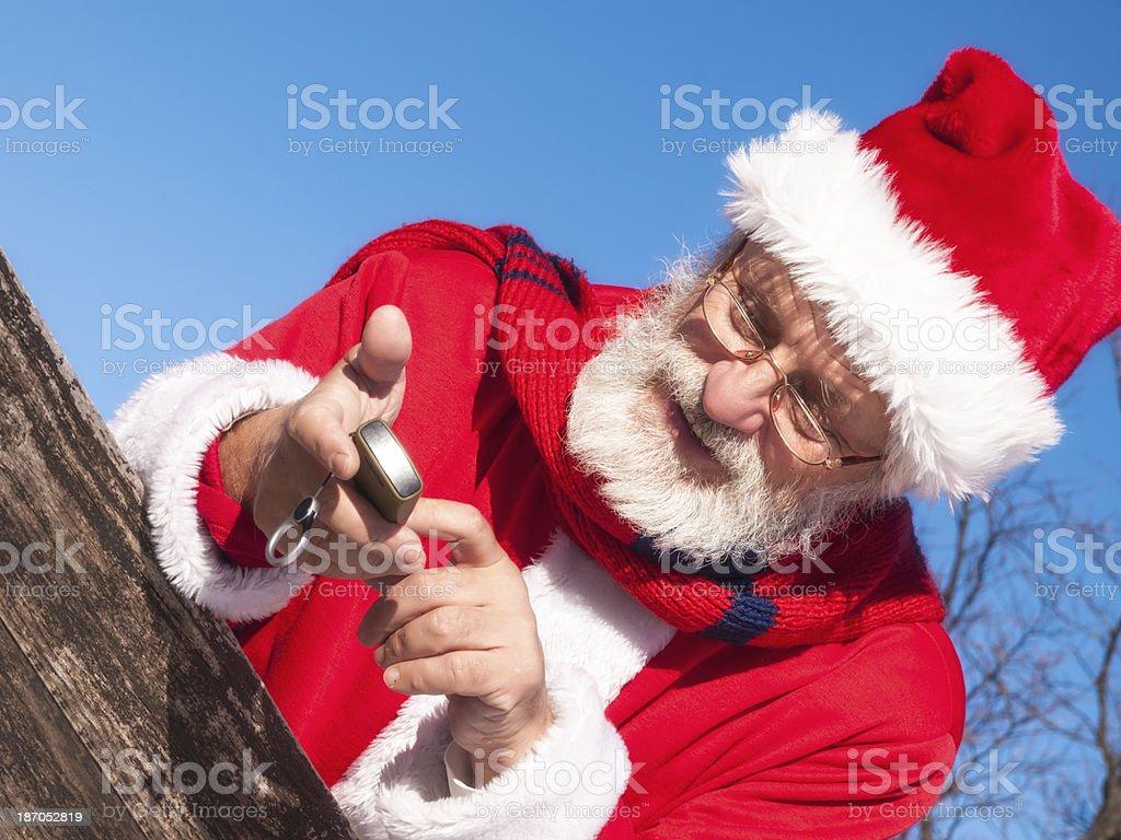 Santa Claus on the phone royalty-free stock photo