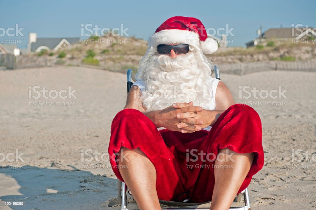 Santa Claus on Vacation stock photo