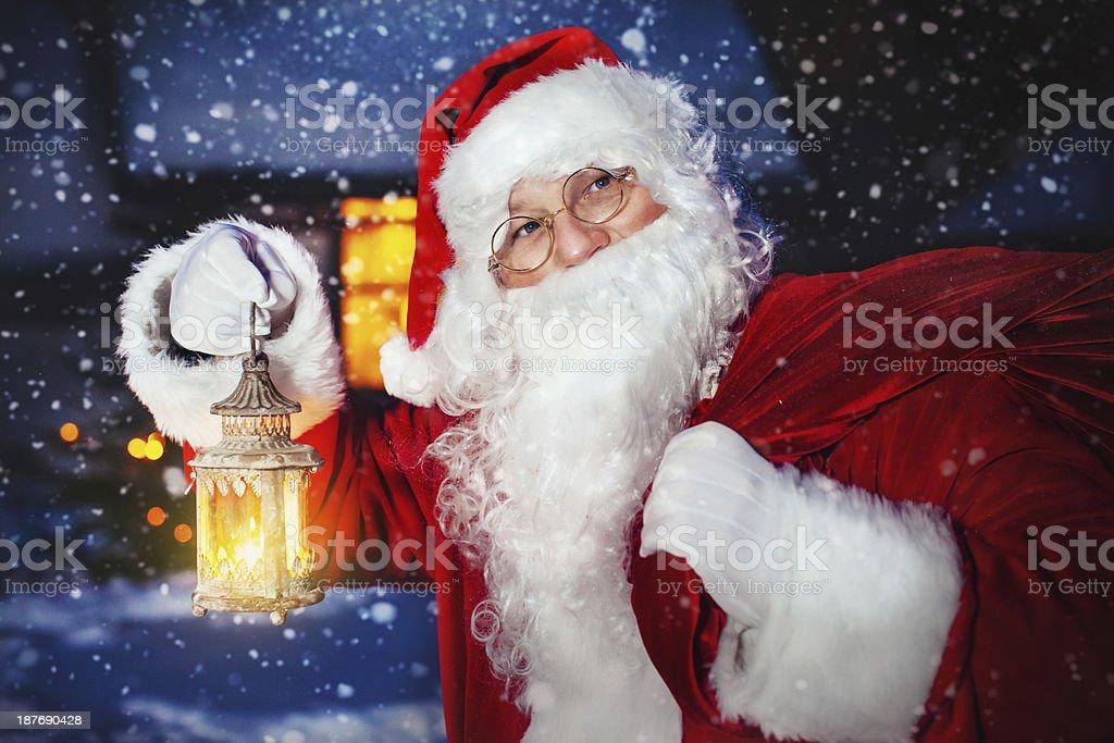 Santa Claus outside royalty-free stock photo