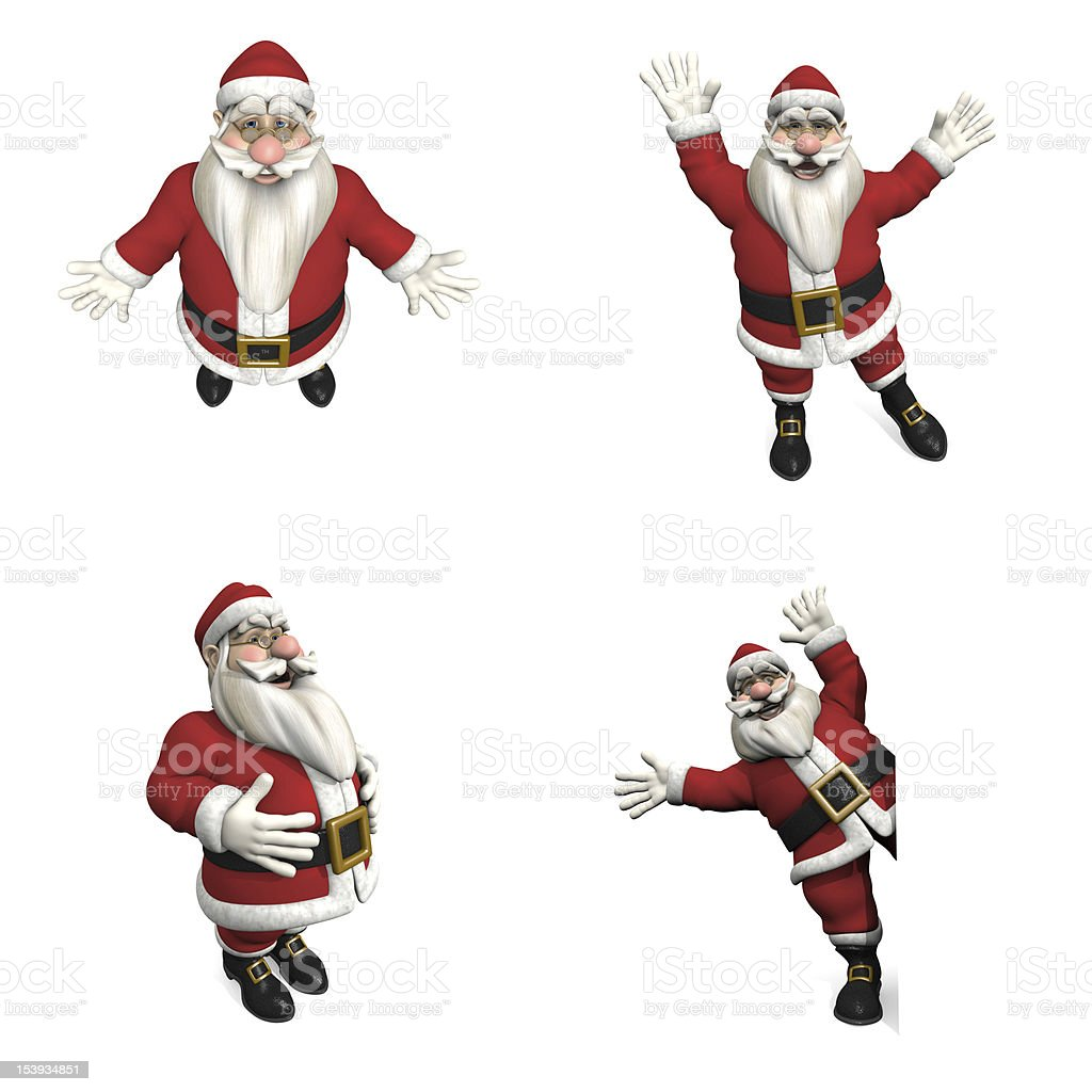Santa Claus posiciones foto de stock libre de derechos