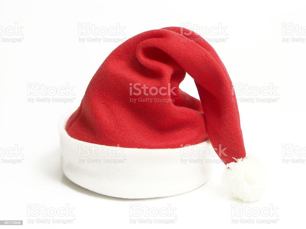 Santa claus red hat royalty-free stock photo