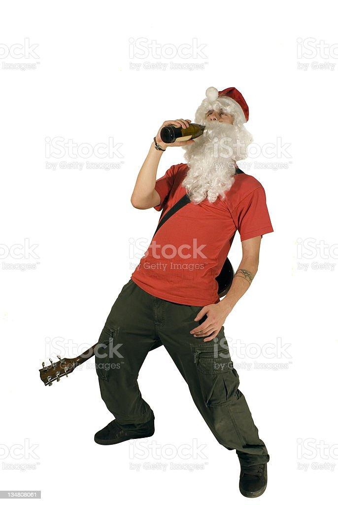 Santa Claus Rock 'N Roller stock photo