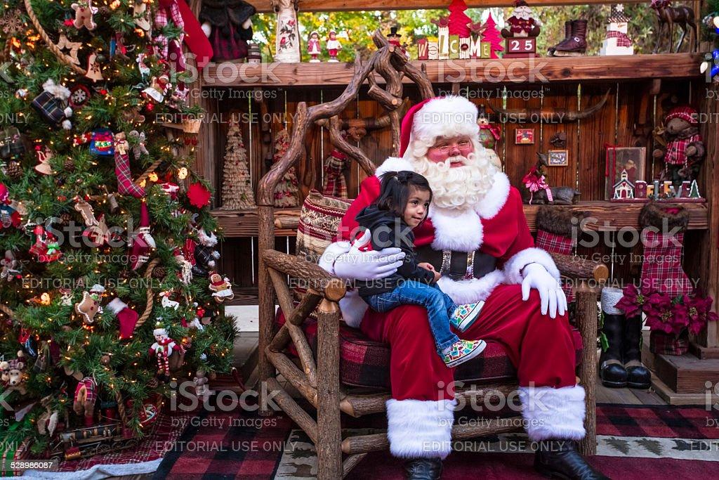 Santa Claus sitting down stock photo