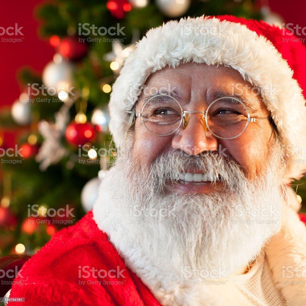 Santa Claus smiling royalty-free stock photo