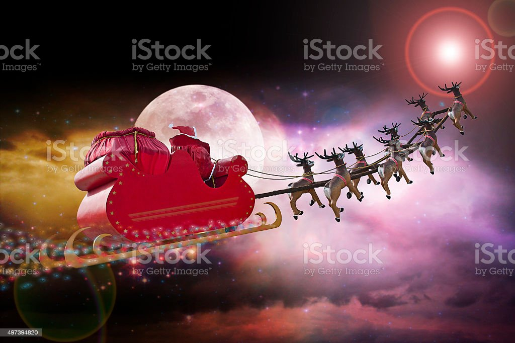 Santa Claus star gps stock photo