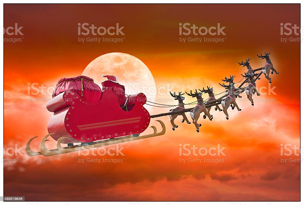 Santa Claus summer evening stock photo