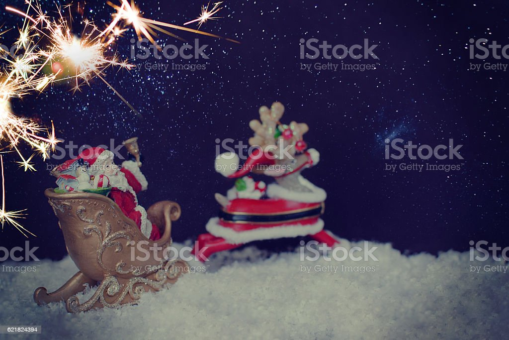 Santa Claus toy stock photo