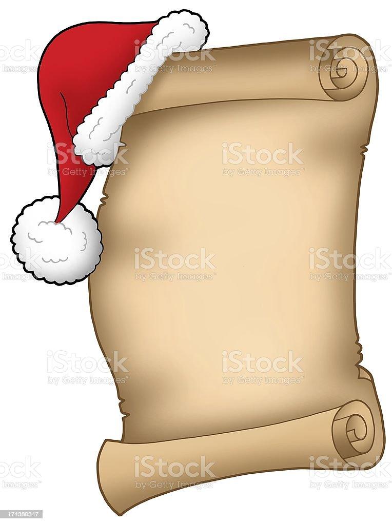 Santa Claus wish list royalty-free stock photo