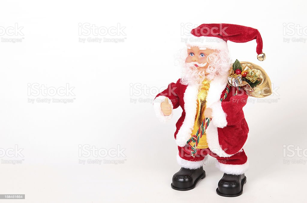 Santa Claus with a bag royalty-free stock photo