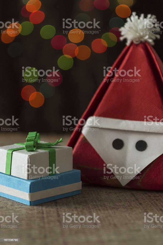 Santa claus with gifts royalty-free stock photo