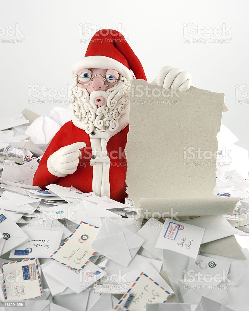 Santa Claus with parchment royalty-free stock photo
