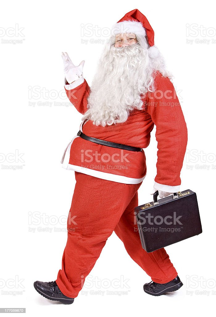 Santa Claus with suitcase royalty-free stock photo