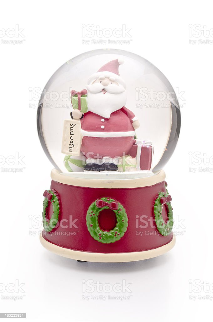 Santa Clause Christmas ball stock photo