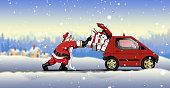 Santa Claus´s road trip