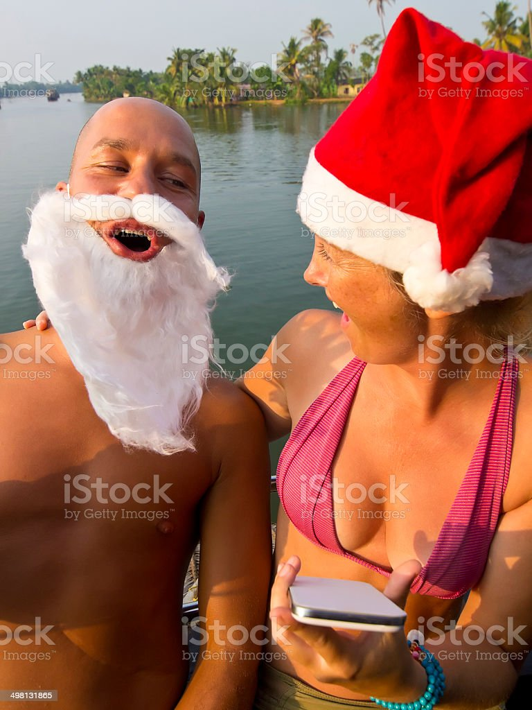 Santa couple royalty-free stock photo