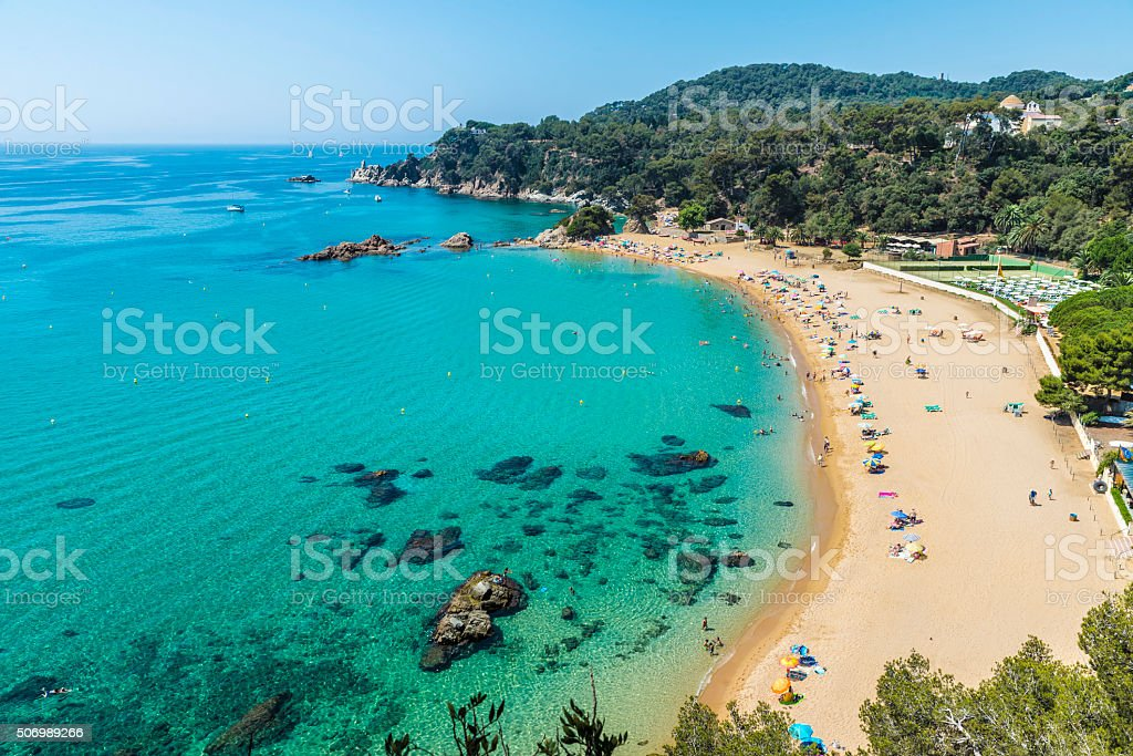 Santa Cristina beach, Catalonia, Spain stock photo