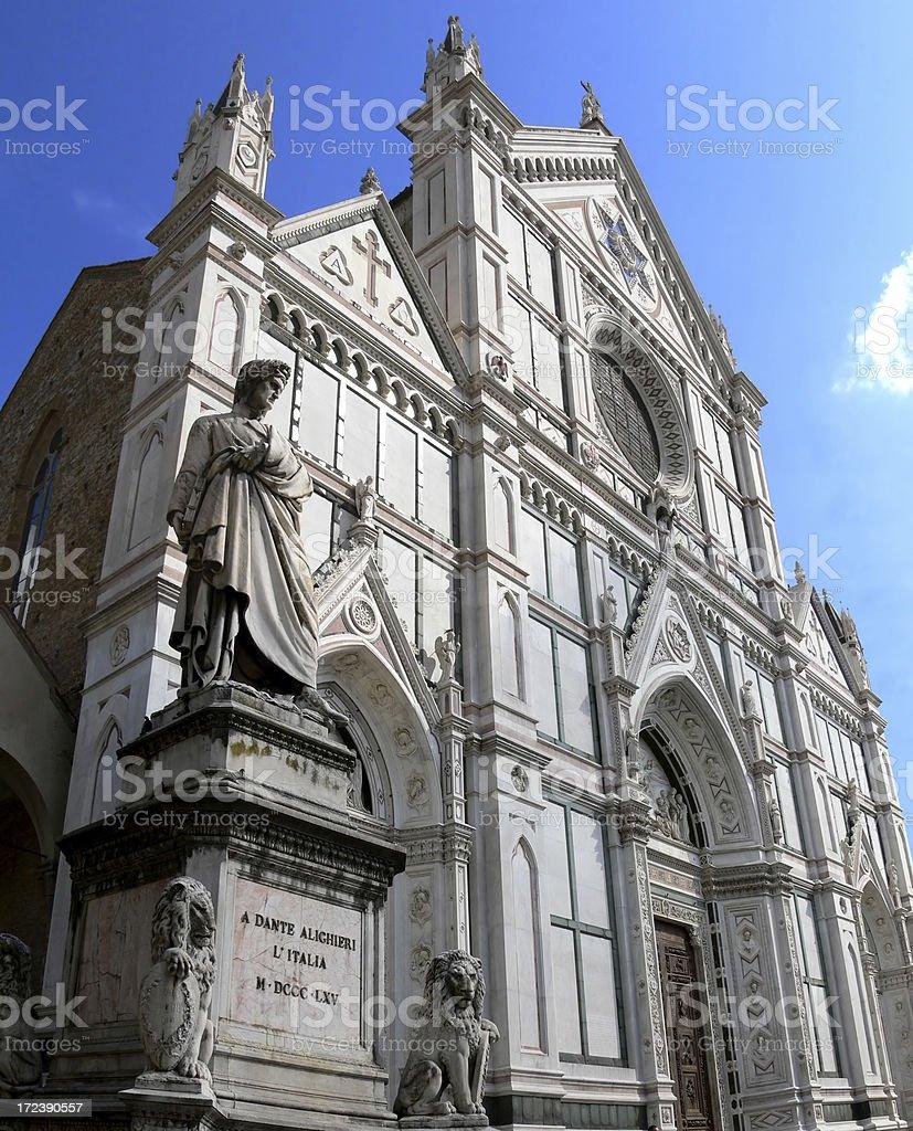 Santa Croce and Dante stock photo