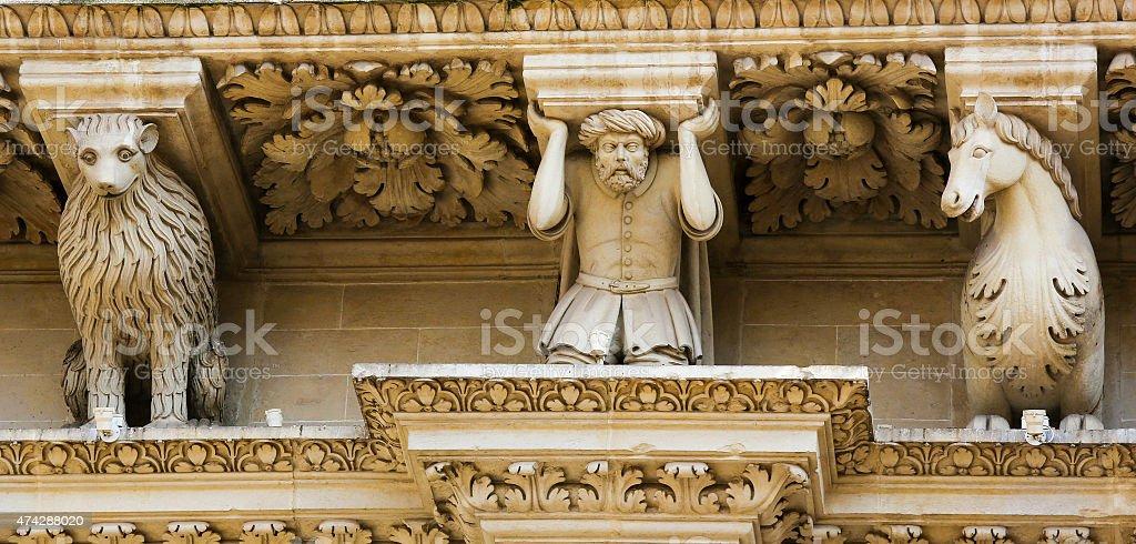 Santa Croce baroque church in Lecce stock photo