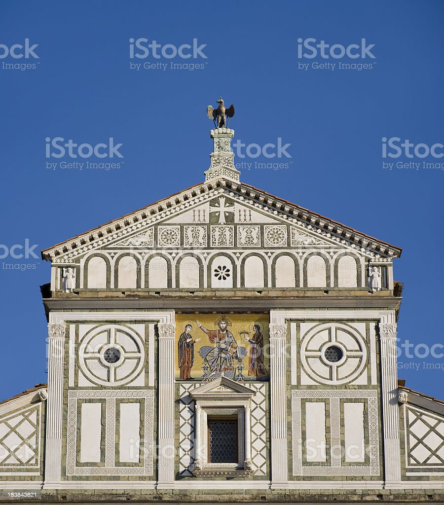 Santa Croce Church in Florence Italy stock photo