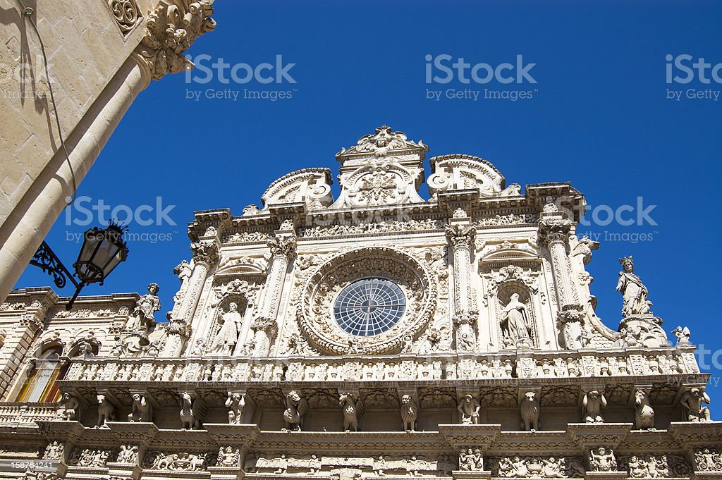 Santa Croce church, Lecce, Apulia, Italy royalty-free stock photo