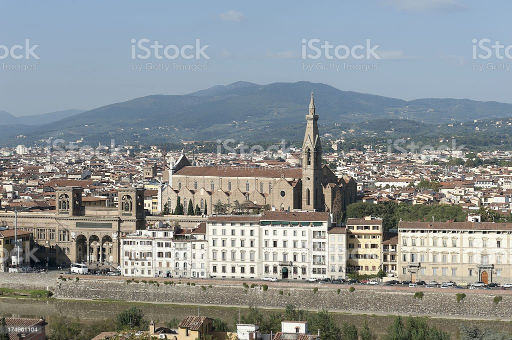 basilica di santa croce in florence stock photo