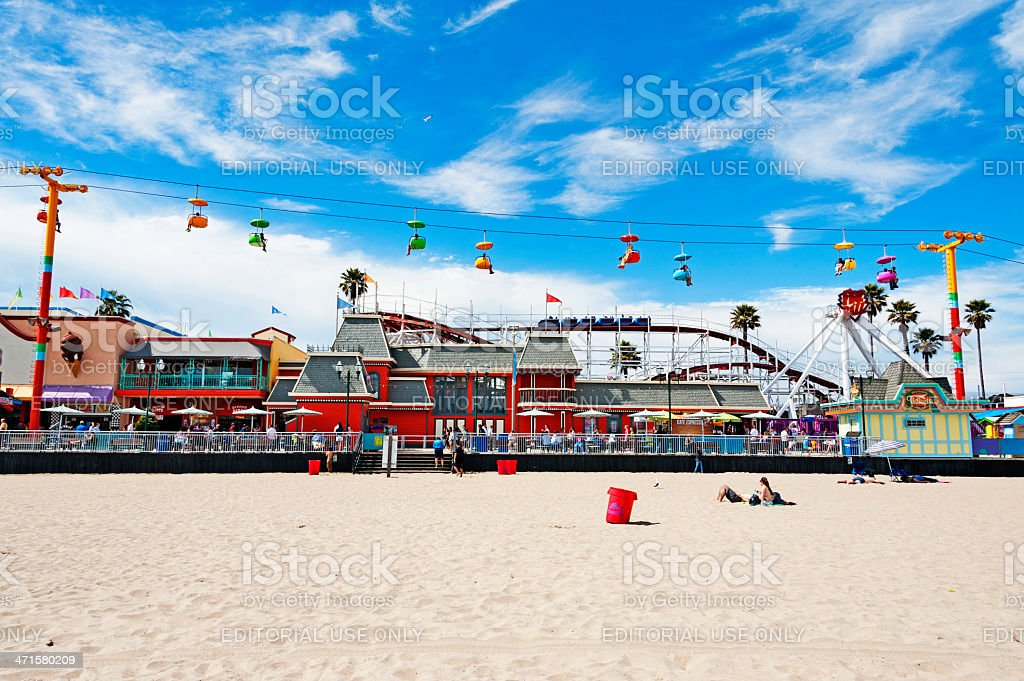 Santa Cruz Amusement Park royalty-free stock photo