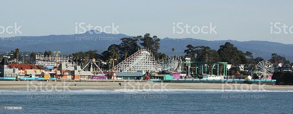Santa Cruz Beach Boardwalk, California amusement park royalty-free stock photo