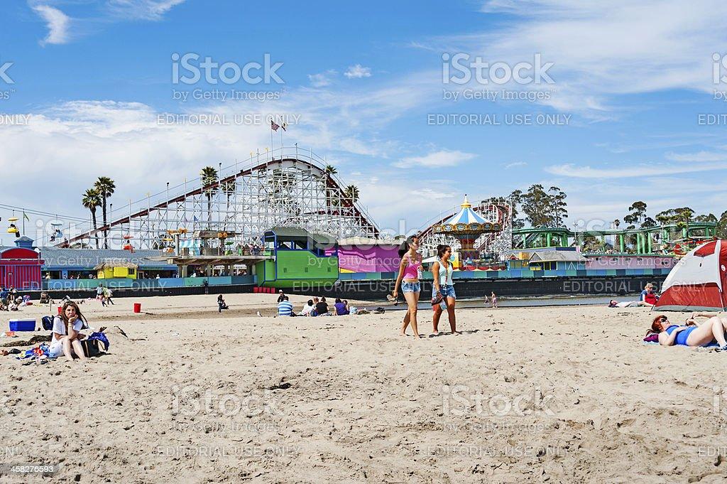 Santa Cruz Beach Views royalty-free stock photo