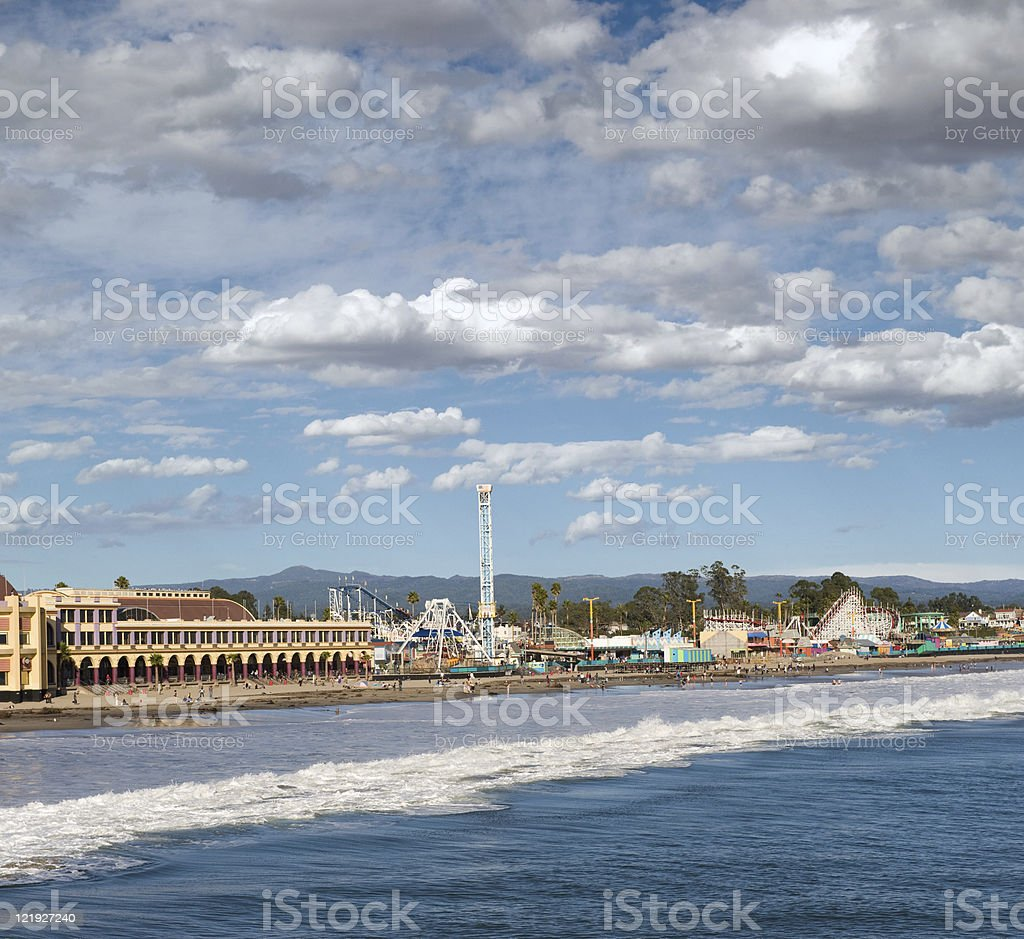 Santa Cruz Boardwalk, California royalty-free stock photo