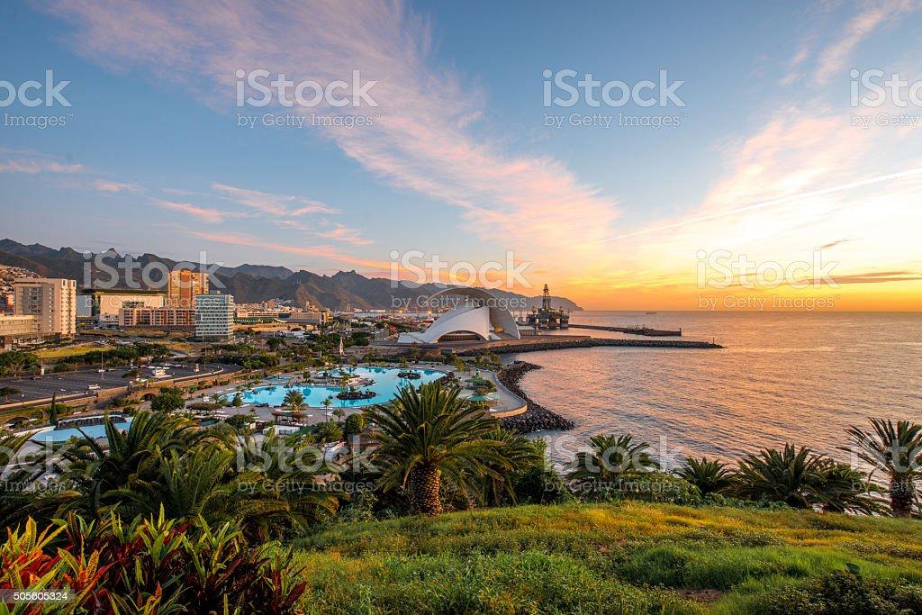 Santa Cruz cityscape view stock photo