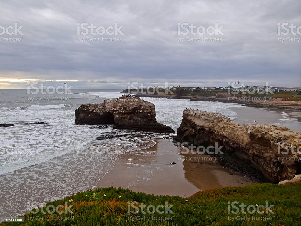 Santa Cruz Natural Bridge stock photo