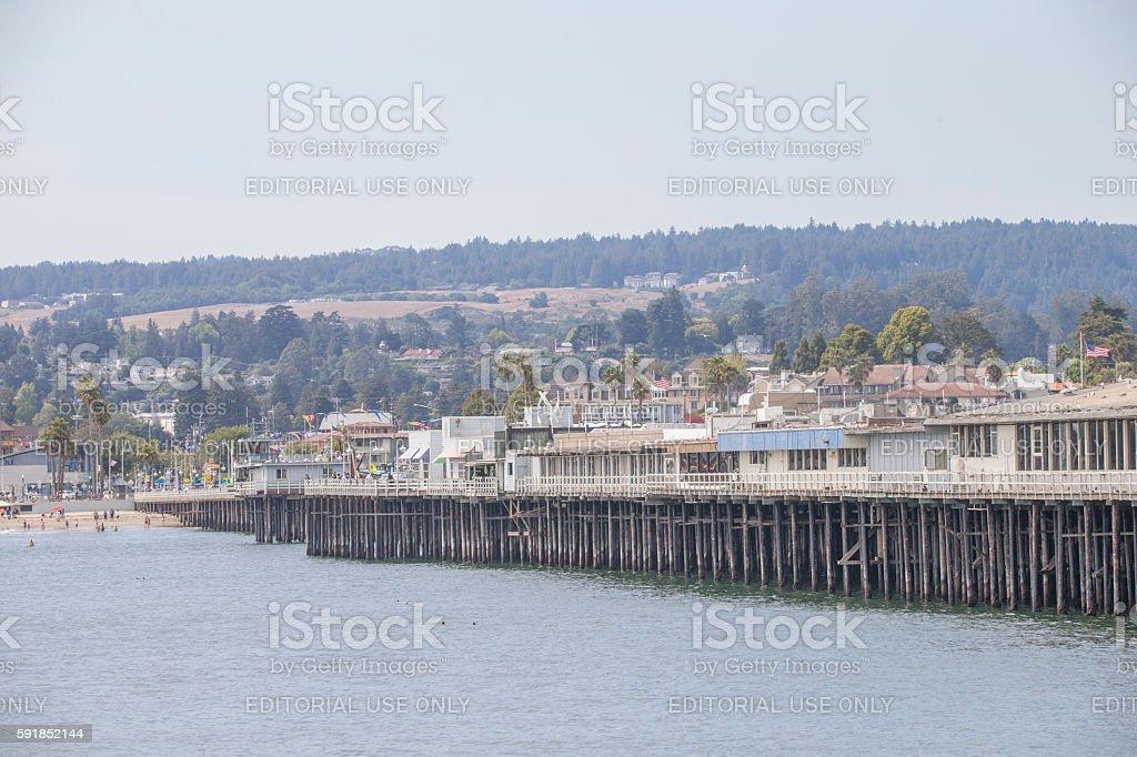 Santa Cruz Pier, Califonia stock photo