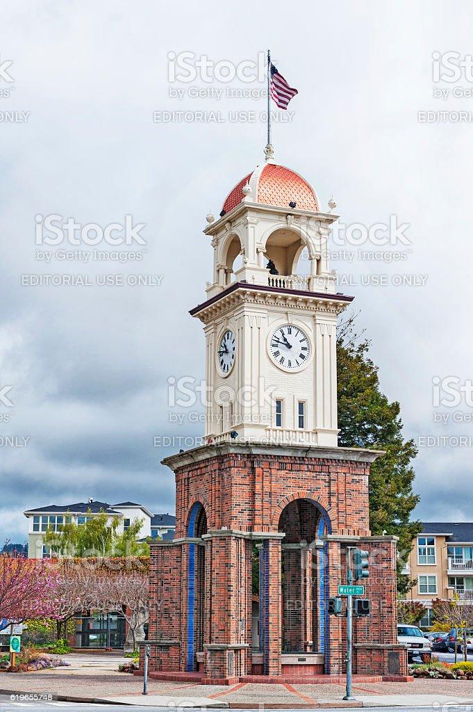 Santa Cruz Town Clock stock photo