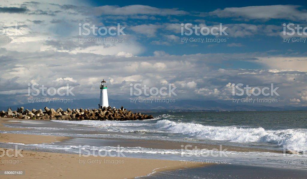 Santa Cruz Walton Lighthouse stock photo