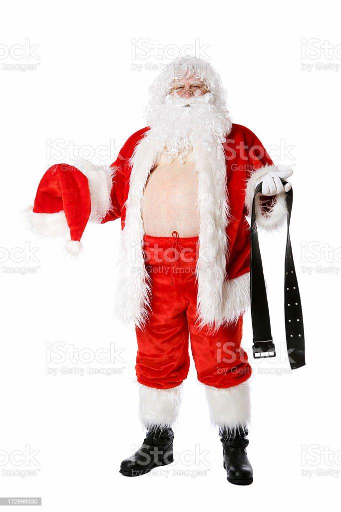 Santa dressing royalty-free stock photo