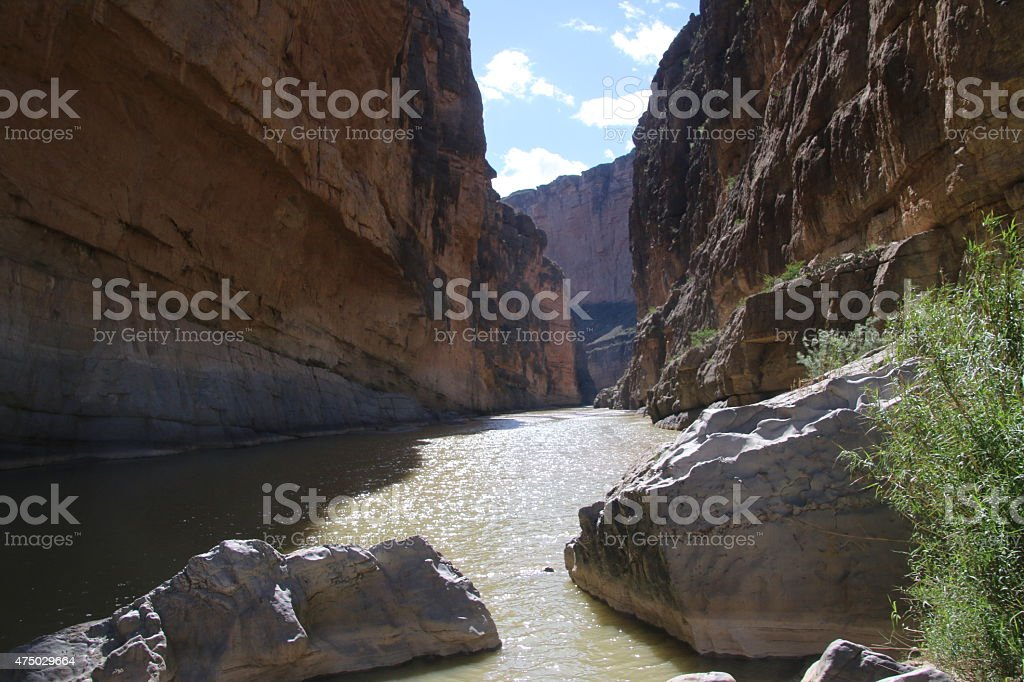 Santa Elena Canyon - Big Bend National Park, Texas stock photo