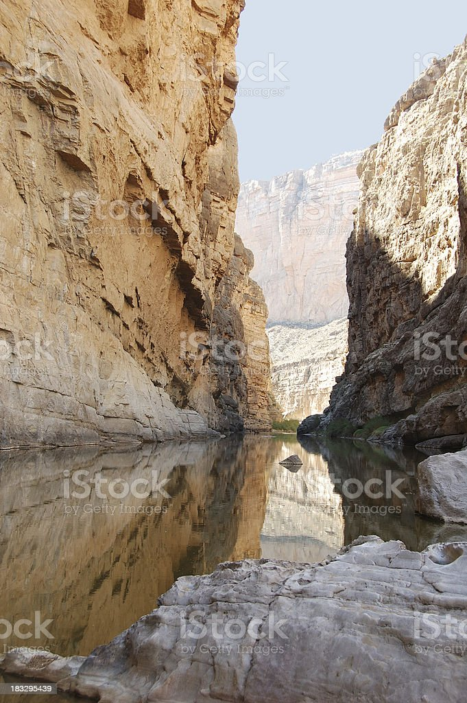Santa Elena Canyon in Big Bend National Park stock photo