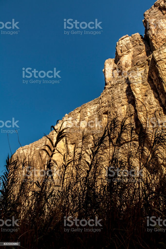 Santa Elena Canyon silhouette stock photo