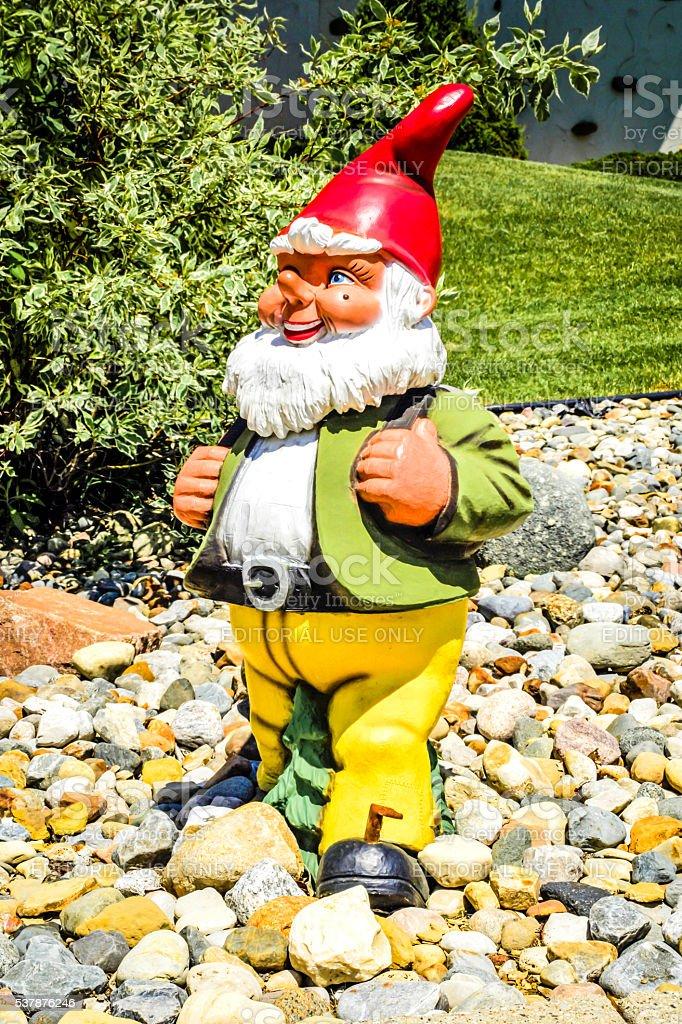 Santa elf statue at Bronner's Christmas wonderland Frankenmuth, MI stock photo