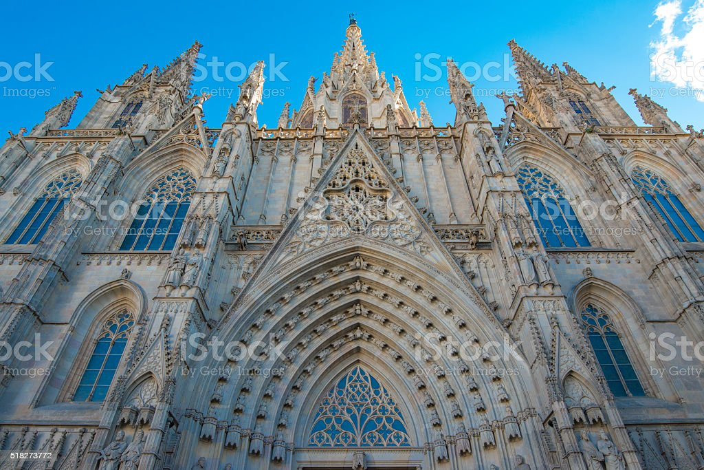 Santa Eulalia Cathedral stock photo