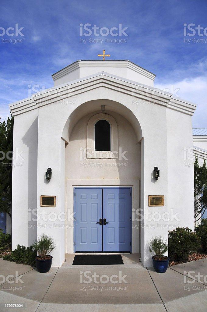 Santa Fé, NM, USA: Saint Elias Greek Orthodox Church stock photo