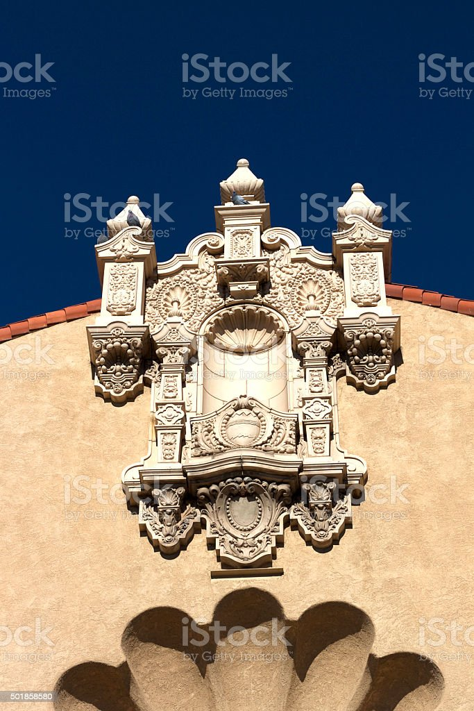 Santa Fe Architecture: Lensic Theater Roof Detail stock photo