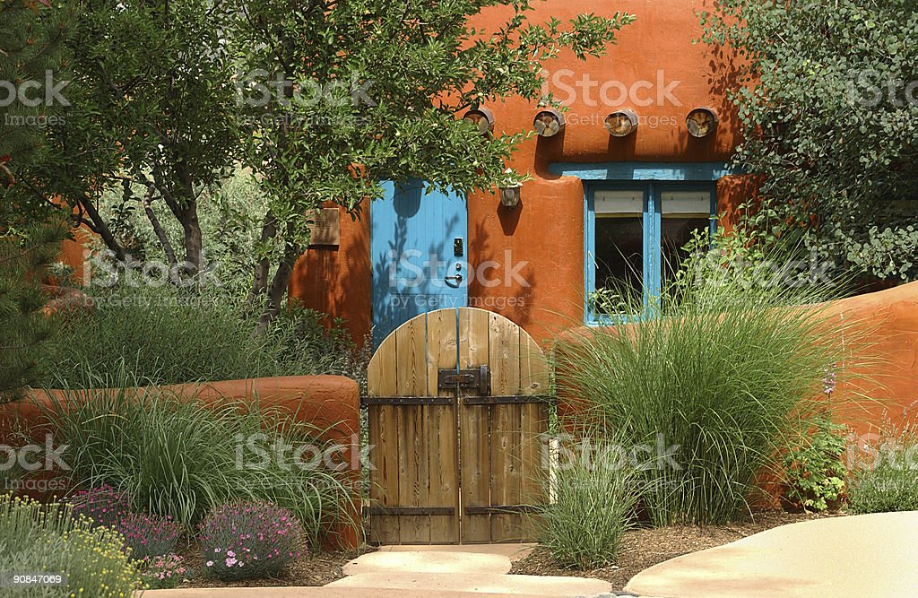 Santa Fe cottage stock photo