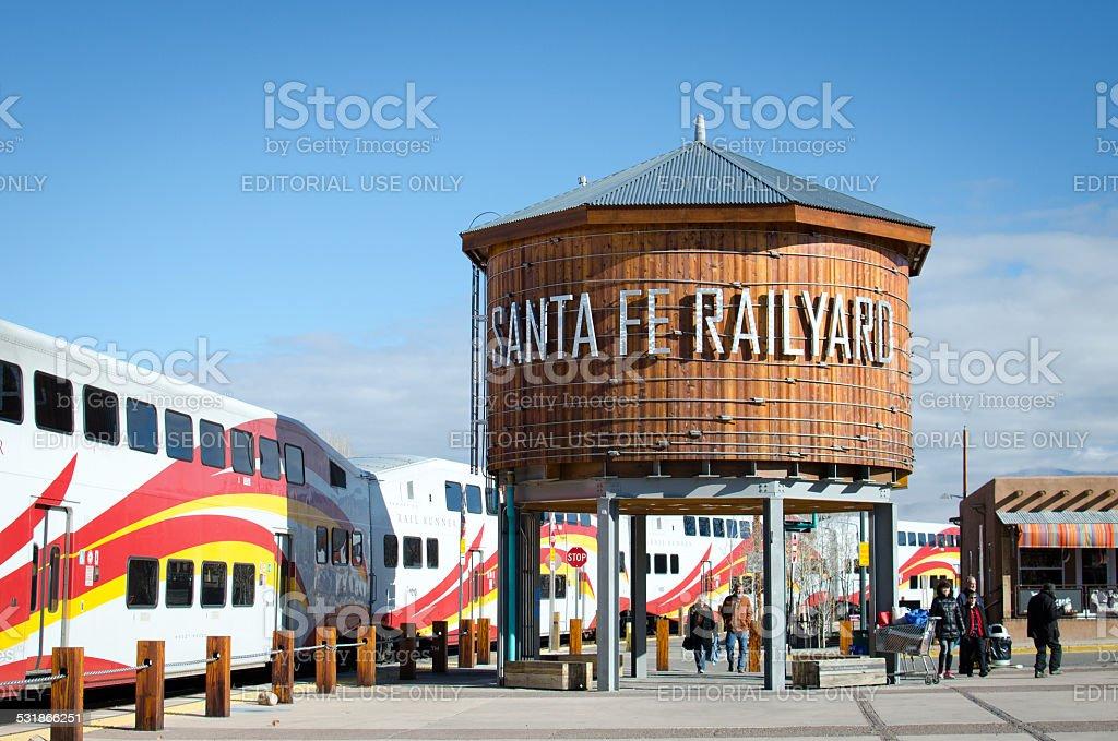 Santa Fe Depot Station/Santa Fe Railway stock photo