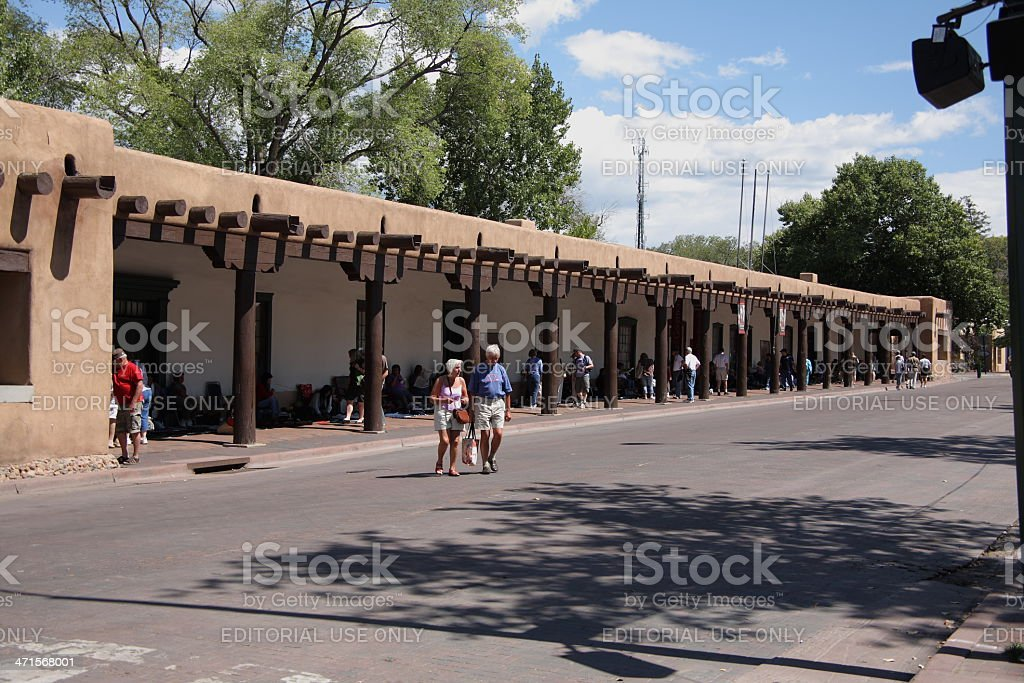Santa Fe - Palace of the Governors royalty-free stock photo