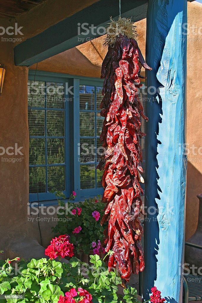 Santa Fe peppers royalty-free stock photo