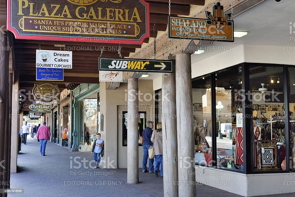 Santa Fe Shopping royalty-free stock photo